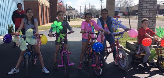 Bike Decorating for the Fairmont City Easter Parade